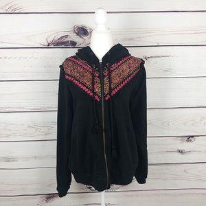 Anthropologie | Akemi + Kin embroidered hoodie L